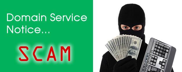 Domain Service Notice Scam