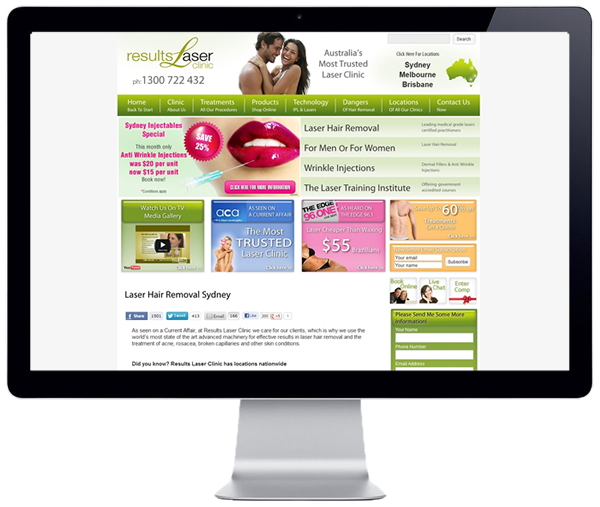 Results Laser Clinic Website