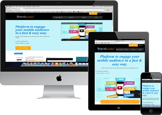 mobile responsive website image