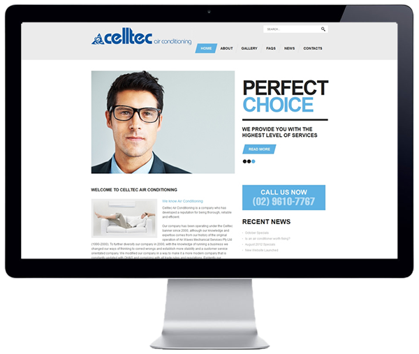 Celltec Air Conditioning Website