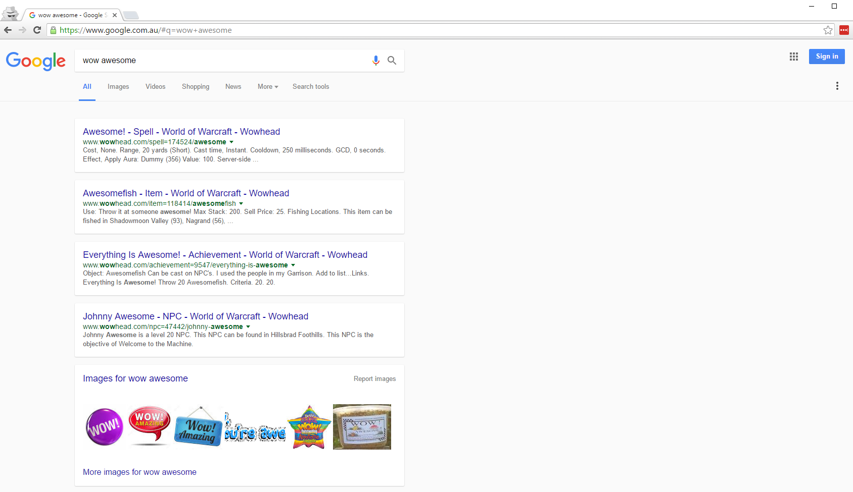 Card View SERPS Experimenting