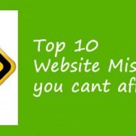 Top 10 Website Mistakes