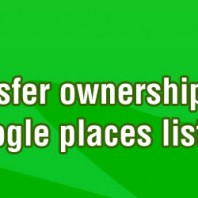 How to transfer ownership of a Google Places listing